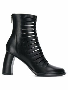 Ann Demeulemeester cut out ankle boots - Black