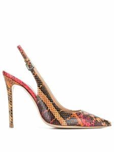 Deimille slingback snake effect pumps - Red