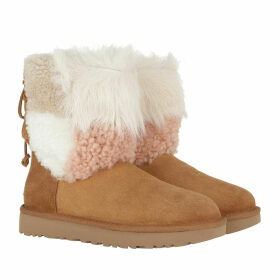 UGG Boots & Booties - W Classic Short Patchwork Fluff Chestnut - brown - Boots & Booties for ladies