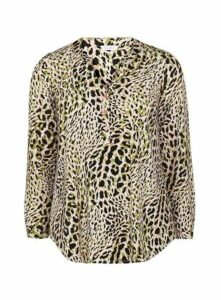 Neutral Animal Print Jersey Shirt, Pink