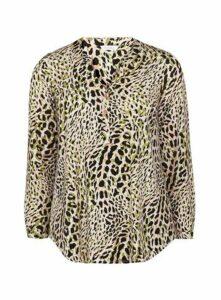 Neutral Animal Print Jersey Shirt, Pink