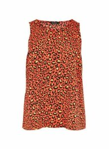 Red Animal Print Camisole, Red