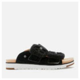 UGG Women's Fluff Indio Double Strap Sandals - Black - UK 6