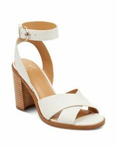Marc Fisher Ltd. Women's Lorla Leather Block Heel Sandals