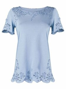 Ermanno Scervino embroidered detail T-shirt - Blue