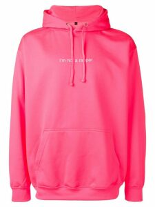 F.A.M.T. 'I'm not a rapper' printed hoodie - Pink