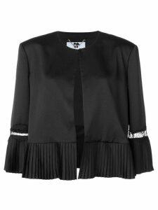 Blumarine pleated detail jacket - Black
