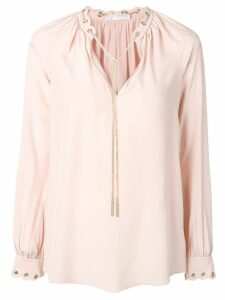 Michael Michael Kors chain link blouse - PINK