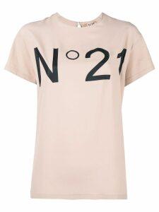 Nº21 logo t-shirt - NEUTRALS