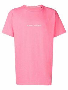F.A.M.T. slogan print T-shirt - Pink
