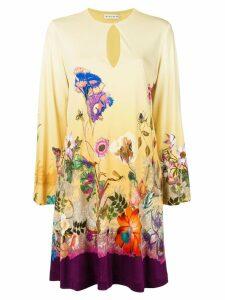 Etro flora print midi dress - Yellow