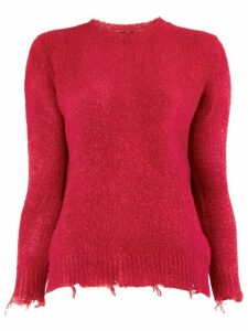 Avant Toi raw hem jumper - Red