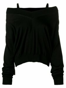 Maison Margiela off shoulder jumper - Black