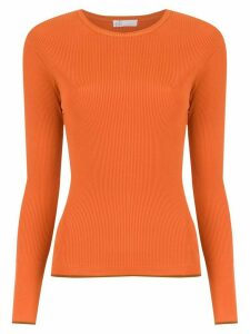 Nk knitted ribbed top - ORANGE