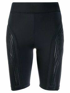 Fendi logo cycling shorts - Black