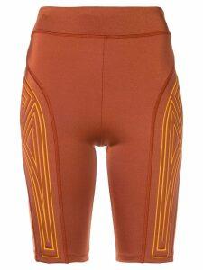 Fendi logo cycling shorts - Orange