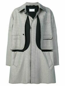 Maison Margiela layered coat - NEUTRALS