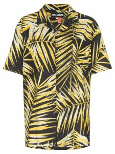 Double Rainbouu palm-print cotton Hawaiian shirt - Black