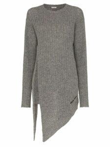 Miu Miu asymmetric wool pullover - Grey