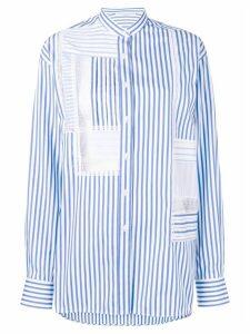 Ermanno Scervino lace inserts shirt - Blue