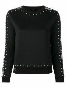 Philipp Plein embellished logo sweatshirt - Black