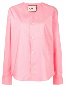 Plan C v-neck loose-fit shirt - PINK
