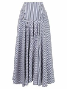 Rosetta Getty long ruffled skirt - Blue