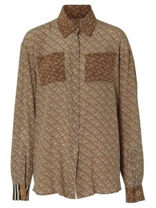 Burberry two-tone monogram print shirt - Brown