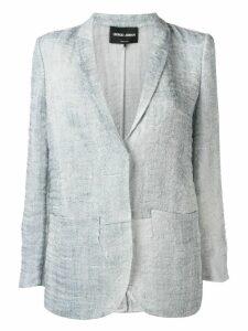 Giorgio Armani textured blazer - Blue