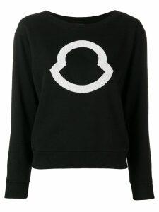 Moncler logo sweatshirt - Black