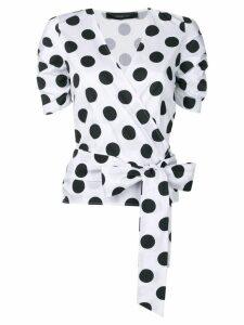 Federica Tosi polka dot wrap blouse - White