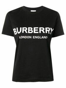 Burberry Logo Print Cotton T-shirt - Black