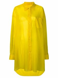 Maison Margiela longline shirt jacket - Yellow