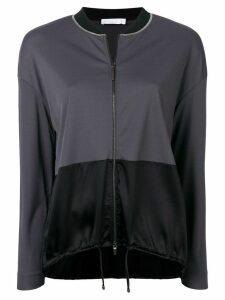 Fabiana Filippi contrast panels lightweight jacket - Grey