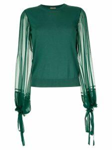 Nº21 contrast blouse - Green