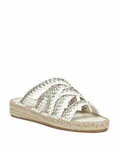 Donald Pliner Women's Rhonda Metallic Woven Leather Sandals