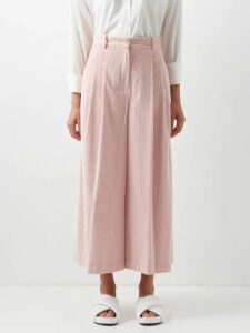 Racil - Agata Tie Neck Blouse - Womens - Yellow White