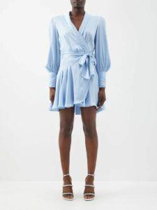 Comme Des Garçons Girl - Drawstring Neck Striped Cotton Midi Dress - Womens - Navy