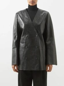 Erdem - Venetia One-sleeve Pussybow Satin Blouse - Womens - Ivory