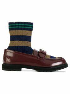 Fendi Rockoko loafers - Brown