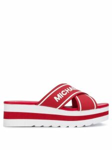 Michael Michael Kors cross strap sandals - Red