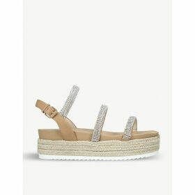 Rapid strass-embellished faux-leather sandals