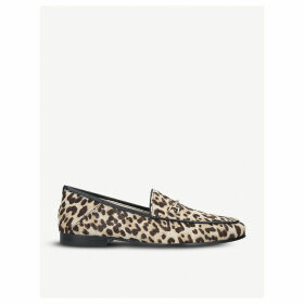 Loraine leopard-print ponyhair loafers