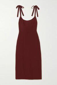 Markus Lupfer - Mary Striped Plissé-knit Midi Dress - Blue