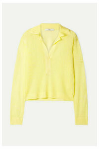 Tibi - Open-knit Sweater - Yellow