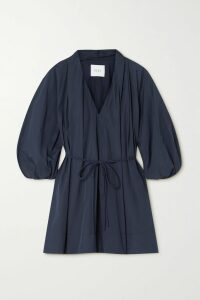 Nili Lotan - Arabella Lace-up Linen Sweater - Black