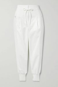 Mira Mikati - Striped Cotton-blend Hoodie - Blue