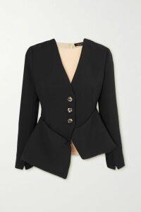 Mira Mikati - Striped Cotton-blend Hoodie - Blue