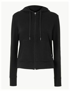 M&S Collection Cotton Rich Long Sleeve Hooded Sweatshirt