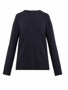 The Row - Sibel Wool-blend Sweater - Womens - Navy